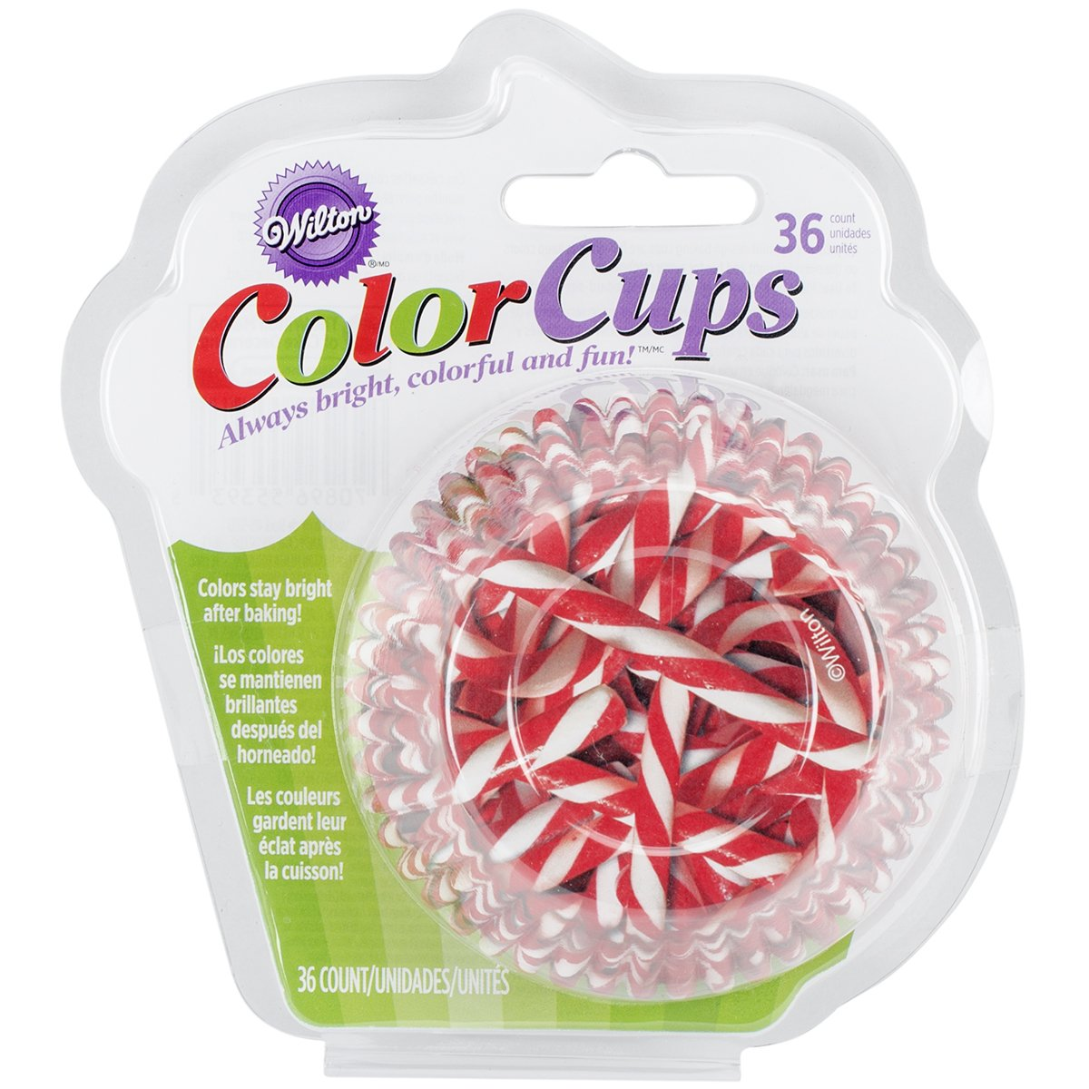 Wilton Candy Cane Pattern Baking Cups, 36-Count, Assorted 415-5393
