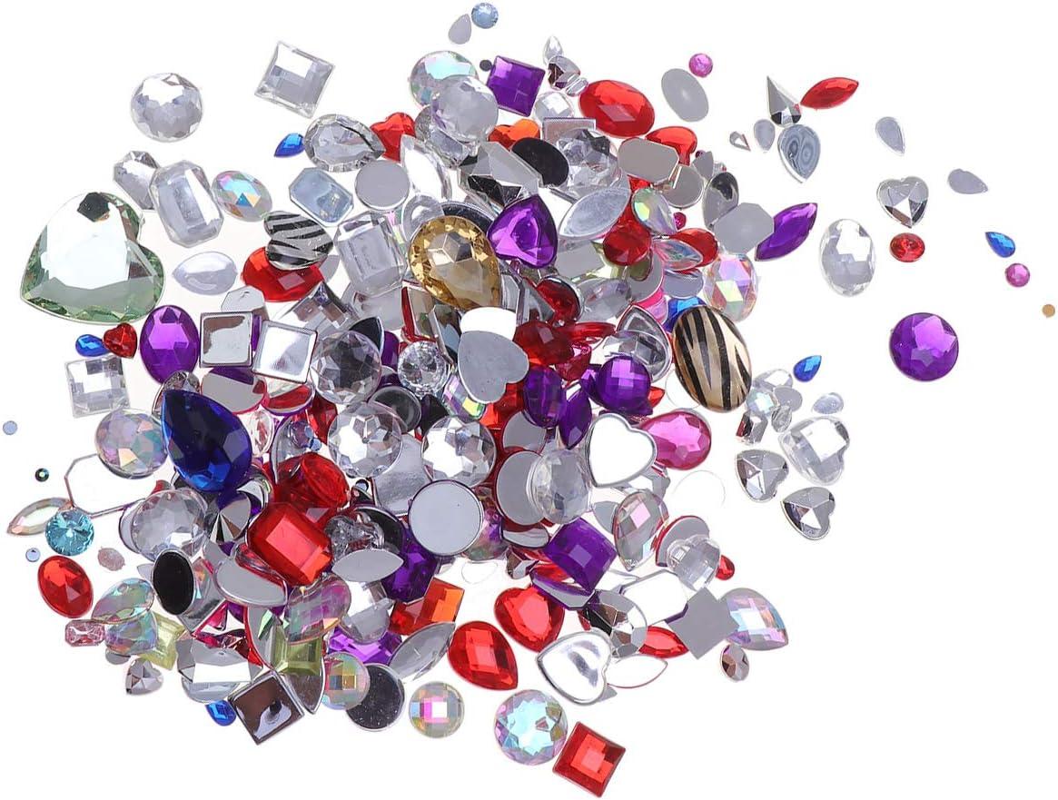 SUPVOX 1 paquete de acrílico Flatback Rhinestones piedras preciosas adornos para la ropa vestido de boda decoración colores mezclados