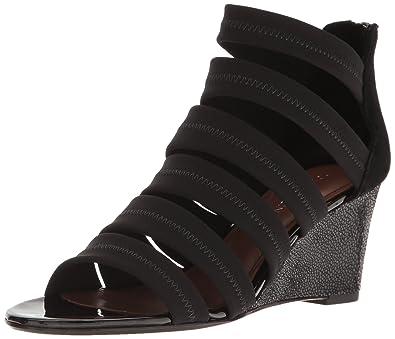 Donald J Pliner Women's Jones-Dks Wedge Sandal, Black Crepe, ...