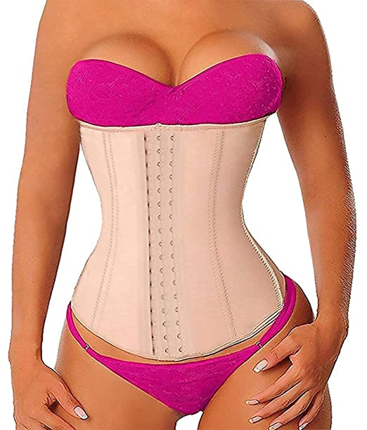 211911cbd8c YIANNA Long Torso Waist Trainer Corset Latex Sports Workout Underbust Waist  Trimmer for Hourglass Body Shaper