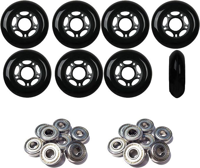 Wheels 72mm Rollerblade  Inline skate wheels set of 4 with bearings and spacer