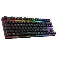 DREVO Tyrfing 87 Key V2 Mechanical Gaming Keyboard US Layout Tenkeyless - Customizable RGB Backlit - Programming Macro- Media Control - Software Support - Outemu Tactile [Red Switch, Black]