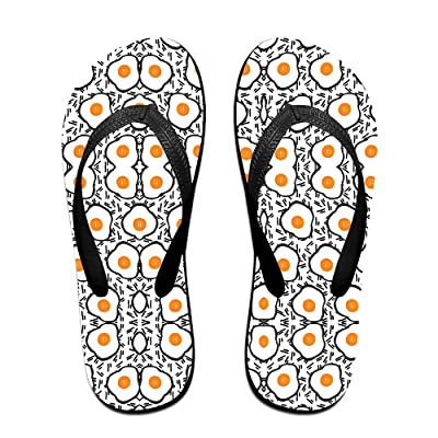 Eggs Chicken Eggs Food Unisex Fashion Beach Slipper Indoor And Outdoor Classical Flip Flop Thong Sandals