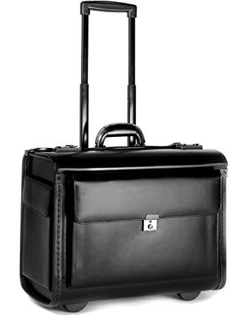 fb7932e4664 Funda de Piel piloto Negocios portátil Bolsa de Viaje maletín de Vuelo  Equipaje de Mano