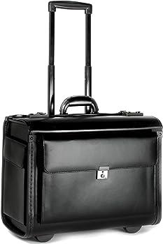 Tassia Ergonomic Leather Luggage