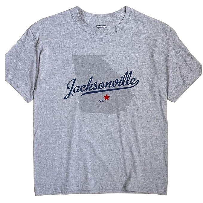 Map Of Jacksonville Georgia.Amazon Com Greatcitees Jacksonville Georgia Ga Telfair County Map