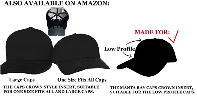 01e1609cd27 Amazon.com   3Pk. Beige Manta Ray Baseball Caps Crown Inserts For Low  Profile Caps