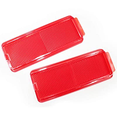 KOAUTO Front or Rear Door Reflector Compatible with 1999-2007 Ford Super Duty and 2000-2005 Ford Excursion: Home & Kitchen