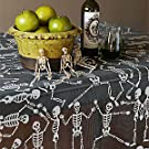"Embroidered Skeleton Dance - Table Topper - 58""x 58"" 