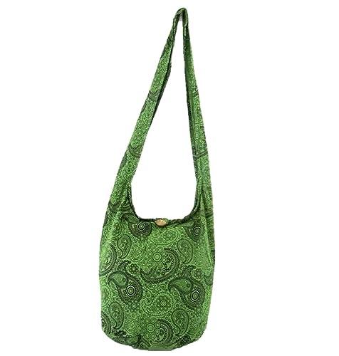 2d99045f6d71 Paisley Hippie Boho Crossbody Bohemian Gypsy Sling Shoulder Bag Medium