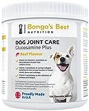 """Gelenk-Ergänzungsfutter für Hunde von """"Bongo's Best"""" – Für Gesunde Knochen, bei Gelenkschmerzen & Arthrose - 120 Tabletten mit Einzigartiger Formel (Glucosamin HCL, Grünschalmuschel, Chondroitin, etc.) - Alle Rassen, Jedes Alter & Gewicht – Geschmacksrichtung """"Rind"""""""