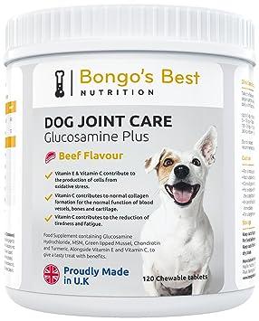 Cuidado de las articulaciones de perros de Bongos Best – Suplemento de glucosamina y mejillón de