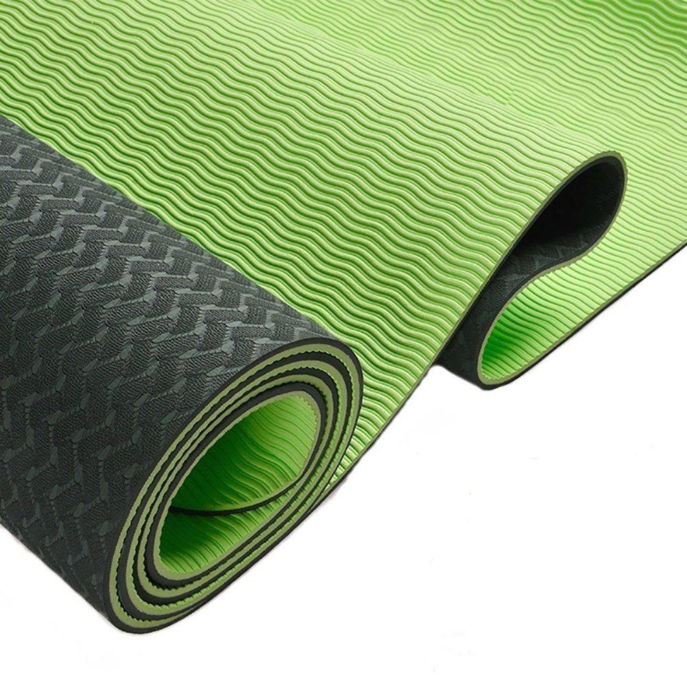 MaxYoga Esterilla para Yoga/Pilates / Gimnasia de Material ecológico TPE. Yoga Colchoneta Esterilla Antideslizante y Ligero con Grosor de 6mm, tamaño ...