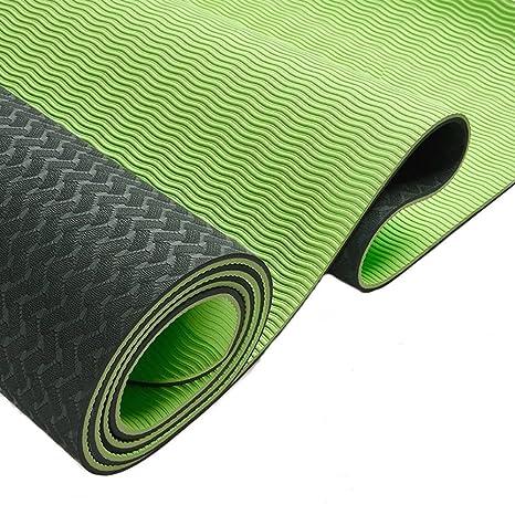 Yogamatte MaxYoga - Sehr bequem 6mm dick and rutschfest Ideal für Yoga Pilates Gymnastik und Fitness Umweltfreundlich & recyc