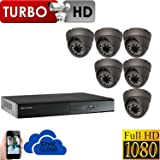 6 HD HI RESOLUTION 1080P HIKVISION CCTV SYSTEM DVR 8 CHANNEL 2TB HDD PLUG AND PLAY SYSTEM PACKAGE SYSTEM P2P EZVIZ