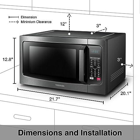 Amazon.com: Toshiba EC042A5C-BS Horno de microondas de ...