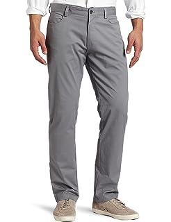 35049abf81f3 Calvin Klein Mens Standard Slim Fit 4-Pocket Stretch Sateen Pant