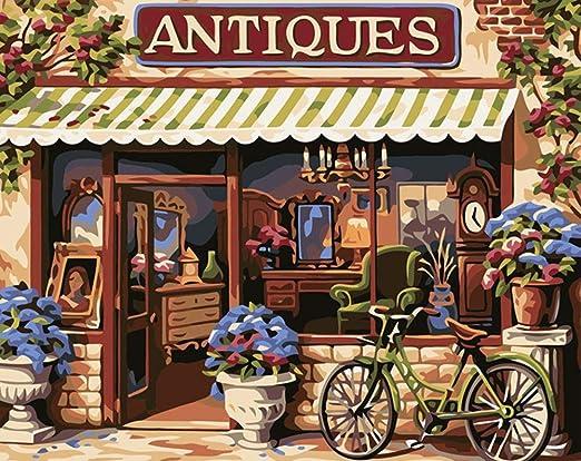 Pintura DIY por números para adultos y niños, bicicleta ABEUTY en ...