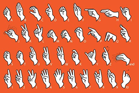 AmazonCom Sign Language Alphabet Communication Educational Chart
