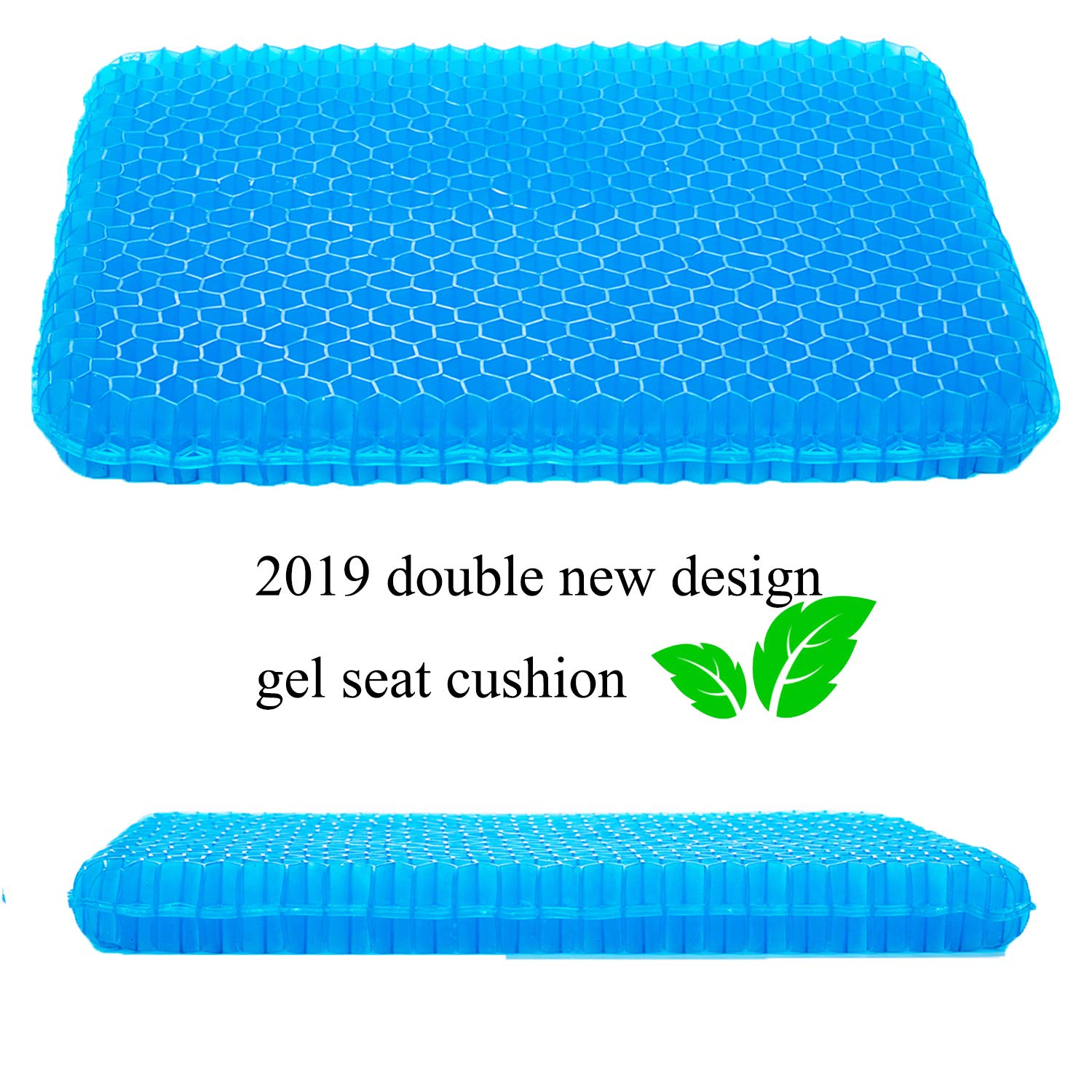 SESEAT Gel Seat Cushion Non Slip Cover Chair Cushion for Office, Truck Driver, Car, Wheelchair, Double Design Seat Cushion