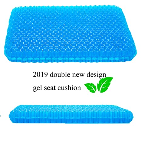 Amazon.com: Cojín de gel antideslizante para silla de ...