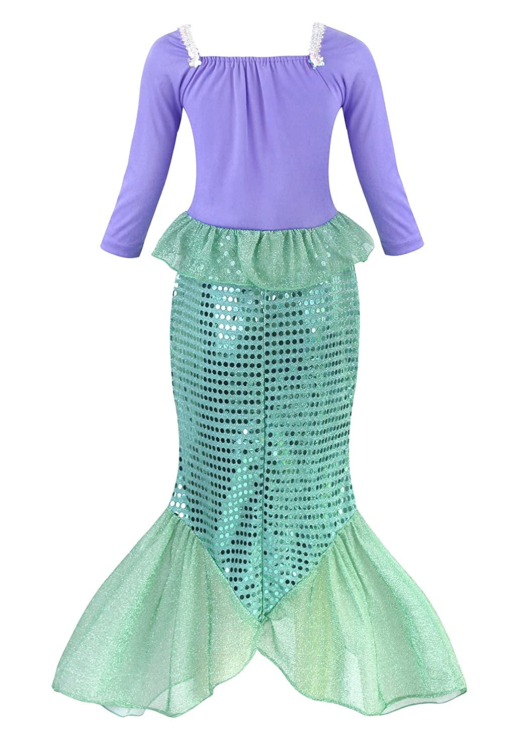 73286ced057b AmzBarley The Little Mermaid Costume Ariel Dress up Girls Kids Fish Tail  Party Fancy Dresses Halloween Costumes Clothes Holiday Birthday Outfit  ...