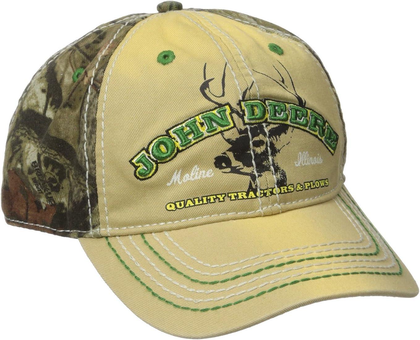 John Deere Mens Mossy Oak Back Cap: Amazon.es: Ropa y accesorios