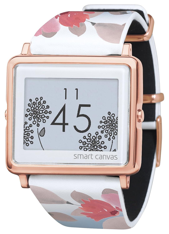 [エプソン スマートキャンバス]EPSON smart canvas Flower ベージュ (金具ピンクゴールド) 腕時計 W1-FL11030 レディース B072LZV9SZ ベージュ