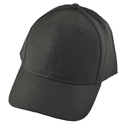 DECKY Fitted Baseball Cap 7 1 8 (12 Colors) (Black) at Amazon Men s ... 49249e03b68a