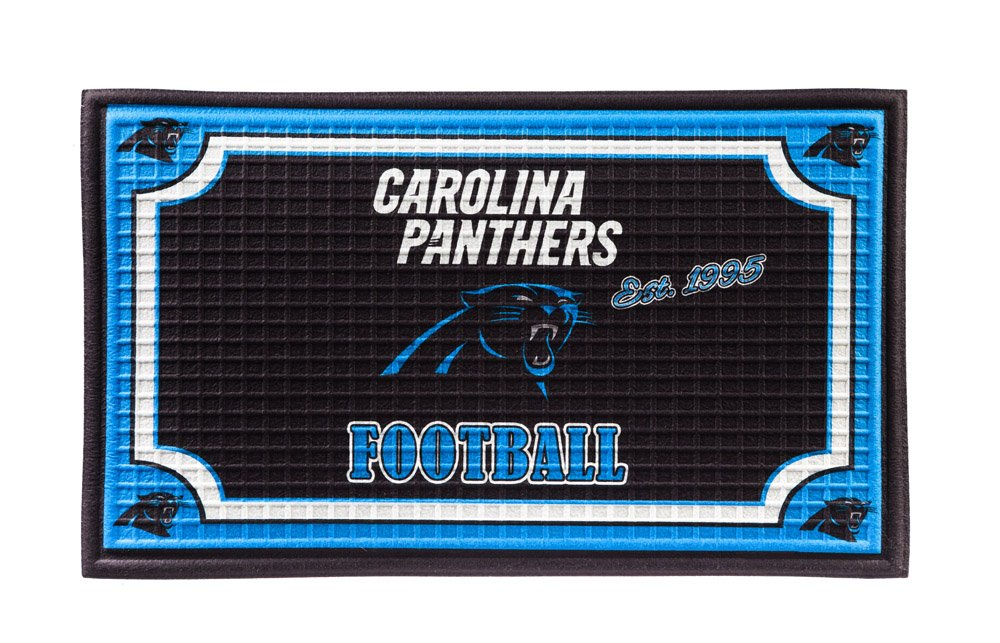 Team Sports America 41EM3804 Carolina Panthers Embossed Door Mat