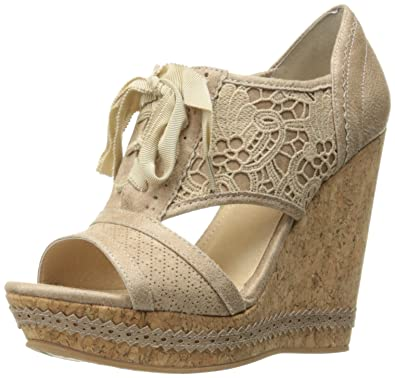 Not Rated Women's Addylin Wedge Sandal, Cream, ...