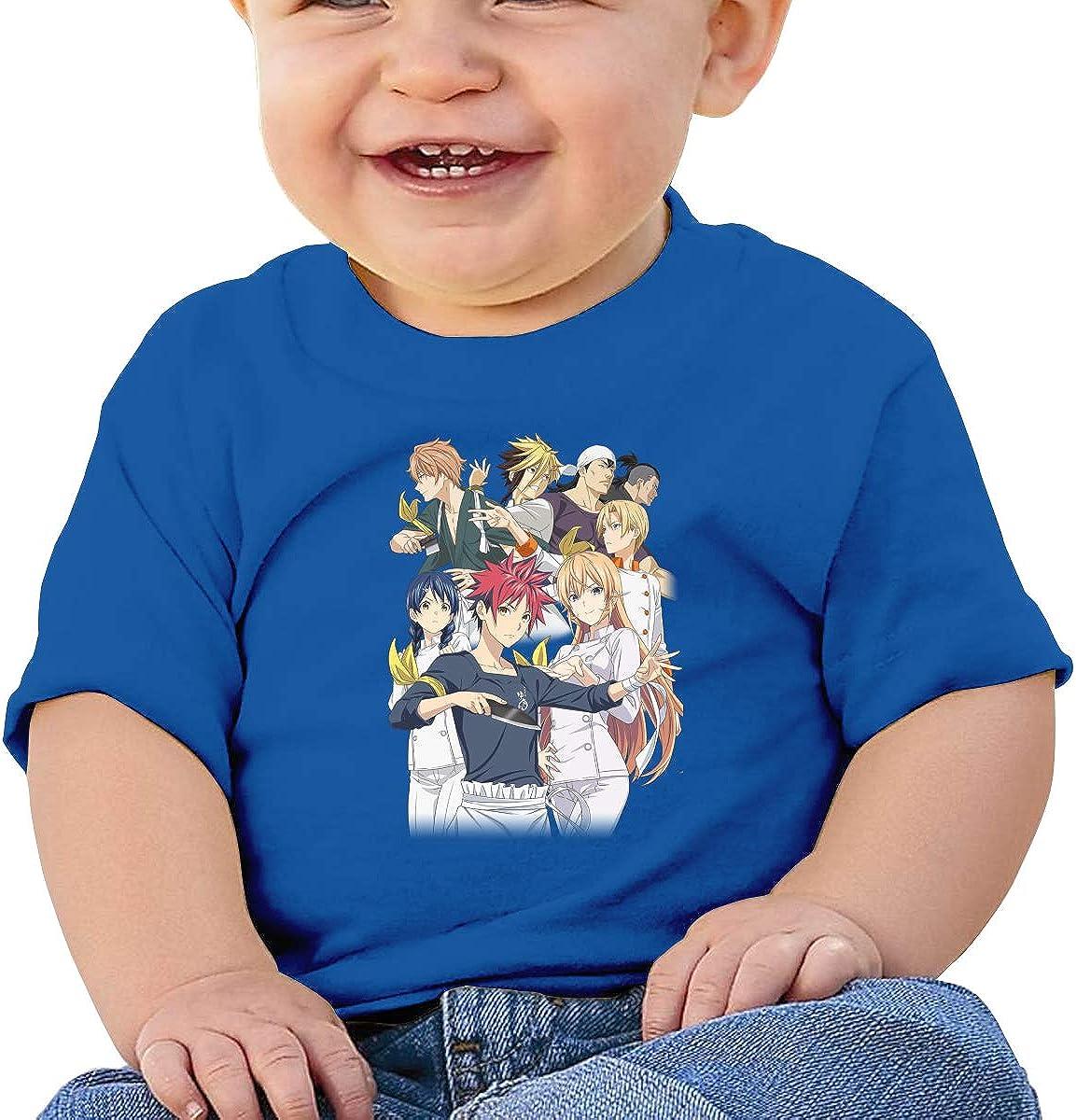 LIIREN Shokugeki No Soma Tee Design Summer T-Shirts for Baby Boy Black
