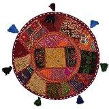 """Stylo Cojín de suelo de la cultura cubierta algodón Patchwork étnico Decorado 18 """"Multi Color Asientos"""