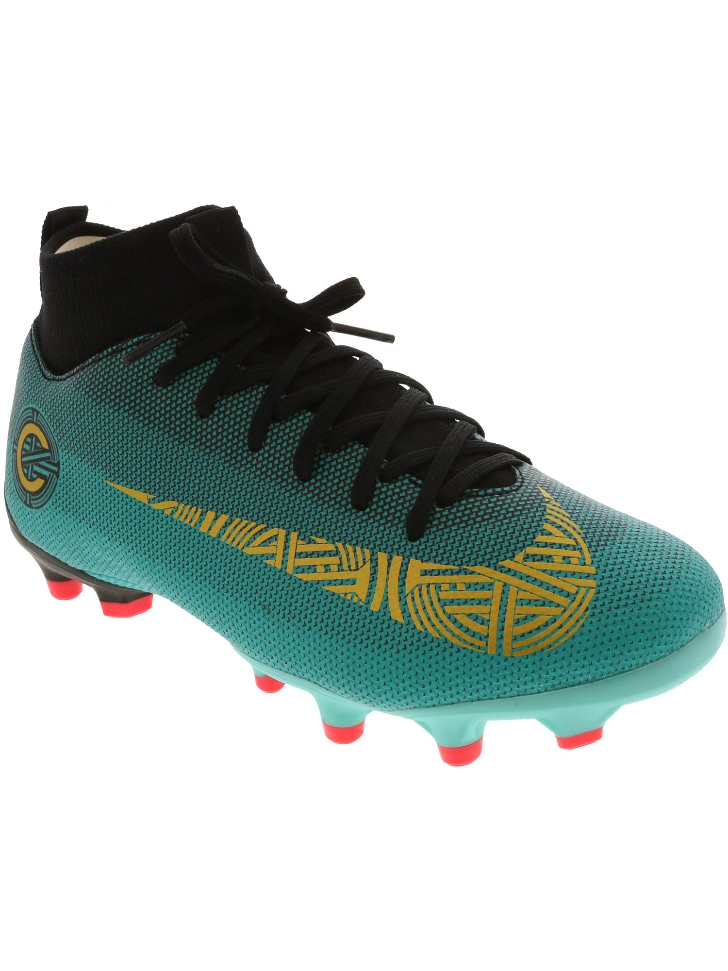 c990ff048 Nike Superfly 6 Academy Gs Cr7 Clear Jade/Metallic Vivid Gold Ankle-High  Soccer Shoe - 4M
