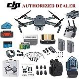 DJI Mavic Pro Drone Quadcopter 4K cámara profesional cardán Bundle Kit con 2 baterías, 64 GB SD Card + 3.0 lector de tarjetas, tren de aterrizaje, protectores de puntal y debe tener accesorios con mochila