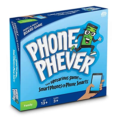 Phone Phever Board Game - Best New Fun Fast-Paced Family-Friendly Party Board Game - It's a Phonetastic Race to Answer Fascinating Trivia Questions & Complete Hilarious Challenges!: Toys & Games