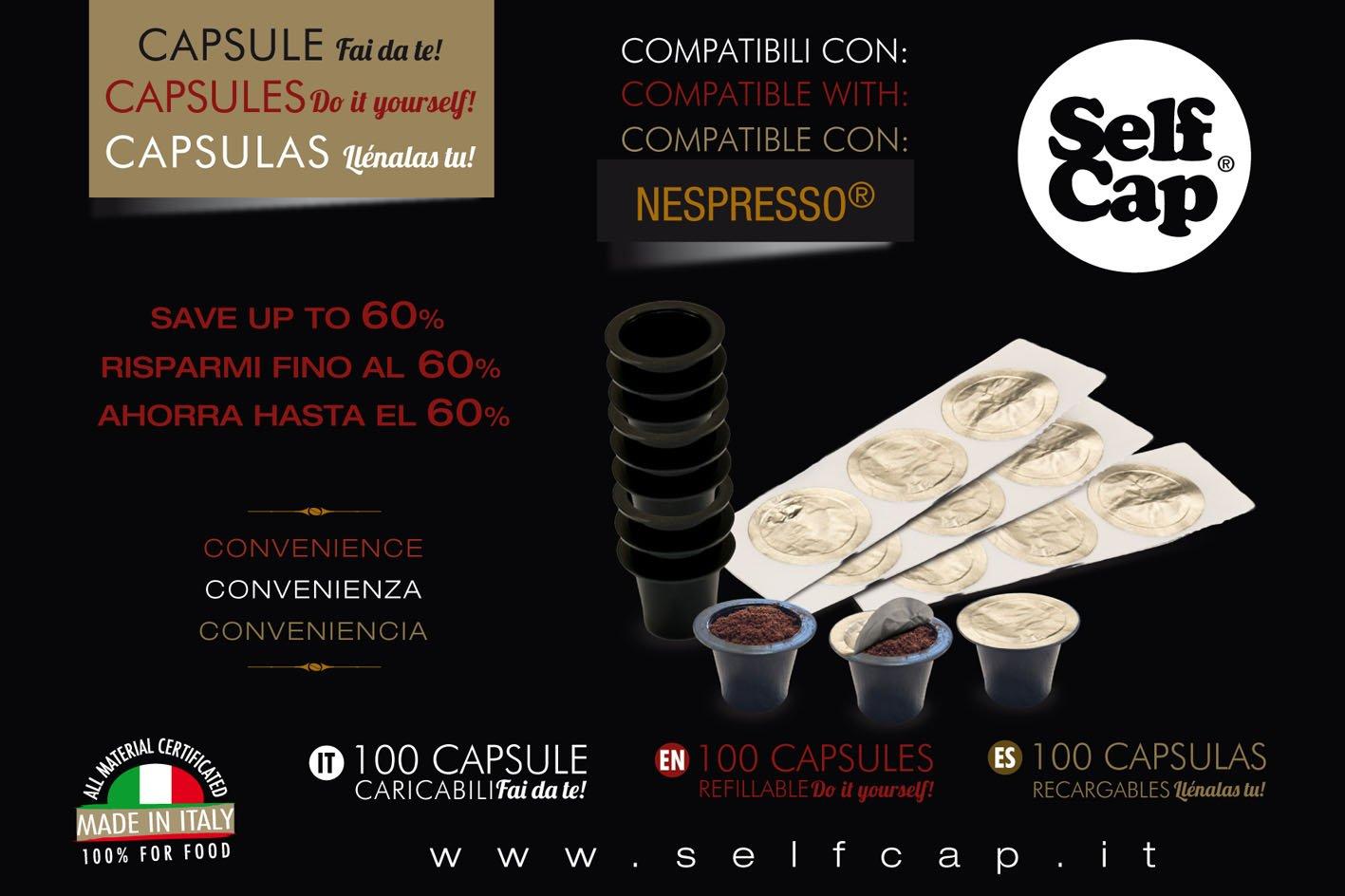 400 CAPSULE CARICABILI SELF CAP NESPRESSO