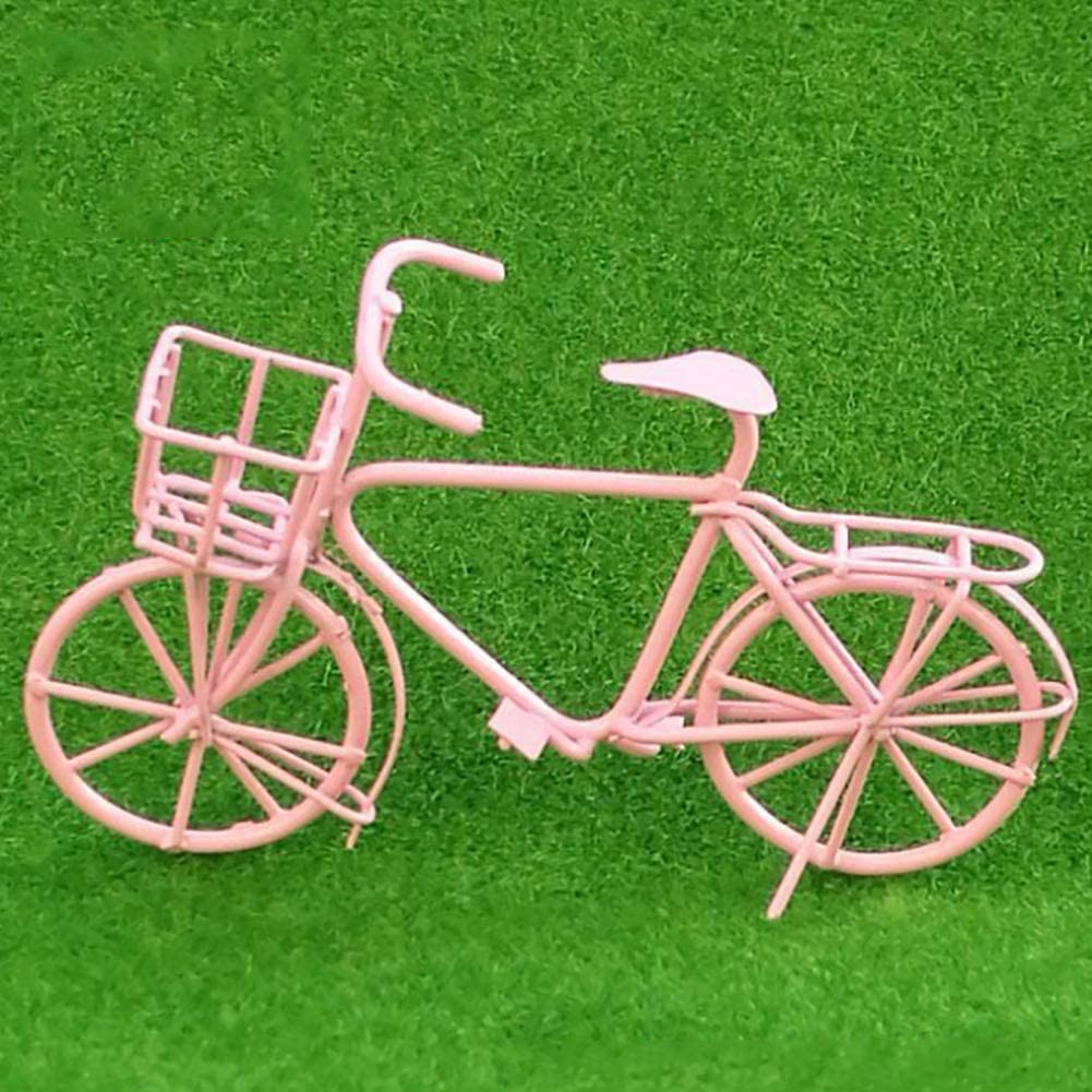4 Colors 1:10 Scale Dollhouse Miniatures Metal Bicycle Bike for Doll Homes Decor