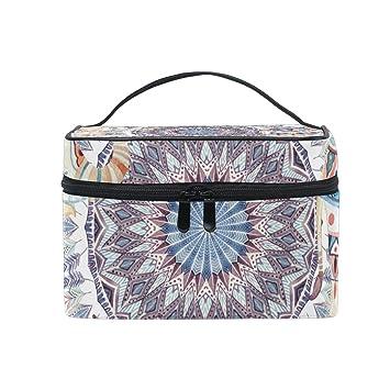 907050a25905 Amazon.com : SAVSV Travel Makeup Bags With Zipper White Moroccan ...