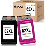INKNI Remanufactured Ink Cartridge Replacement for HP 62XL 62 XL C2P05AN C2P07AN for OfficeJet 200 250 Envy 5660 7640 7645 57