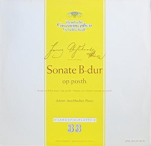 Schubert: Sonate B-dur op. posth. [Vinyl LP] [Schallplatte]