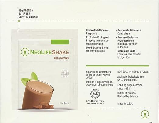 Amazon.com: Neolifeshake Rich Chocolate Box of 15 Packets ...