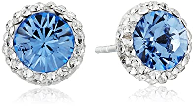 sapphire by created stud silver earrings london sterling deyong david blue birthstone image