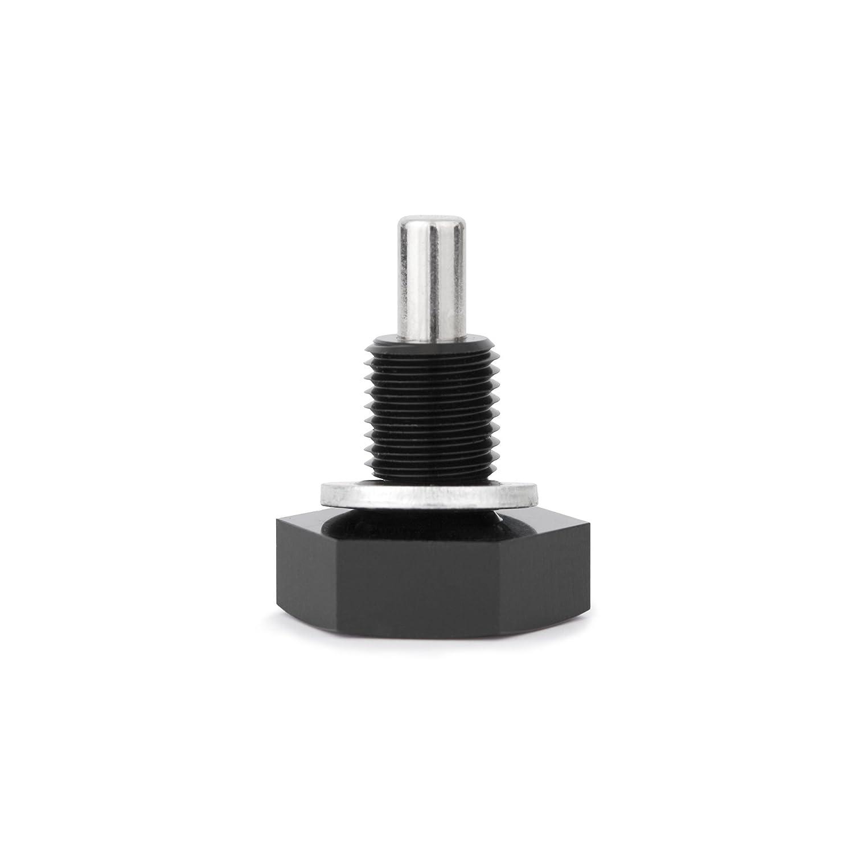Black Mishimoto MMODP-2015B Magnetic Oil Drain Plug M20 x 1.5