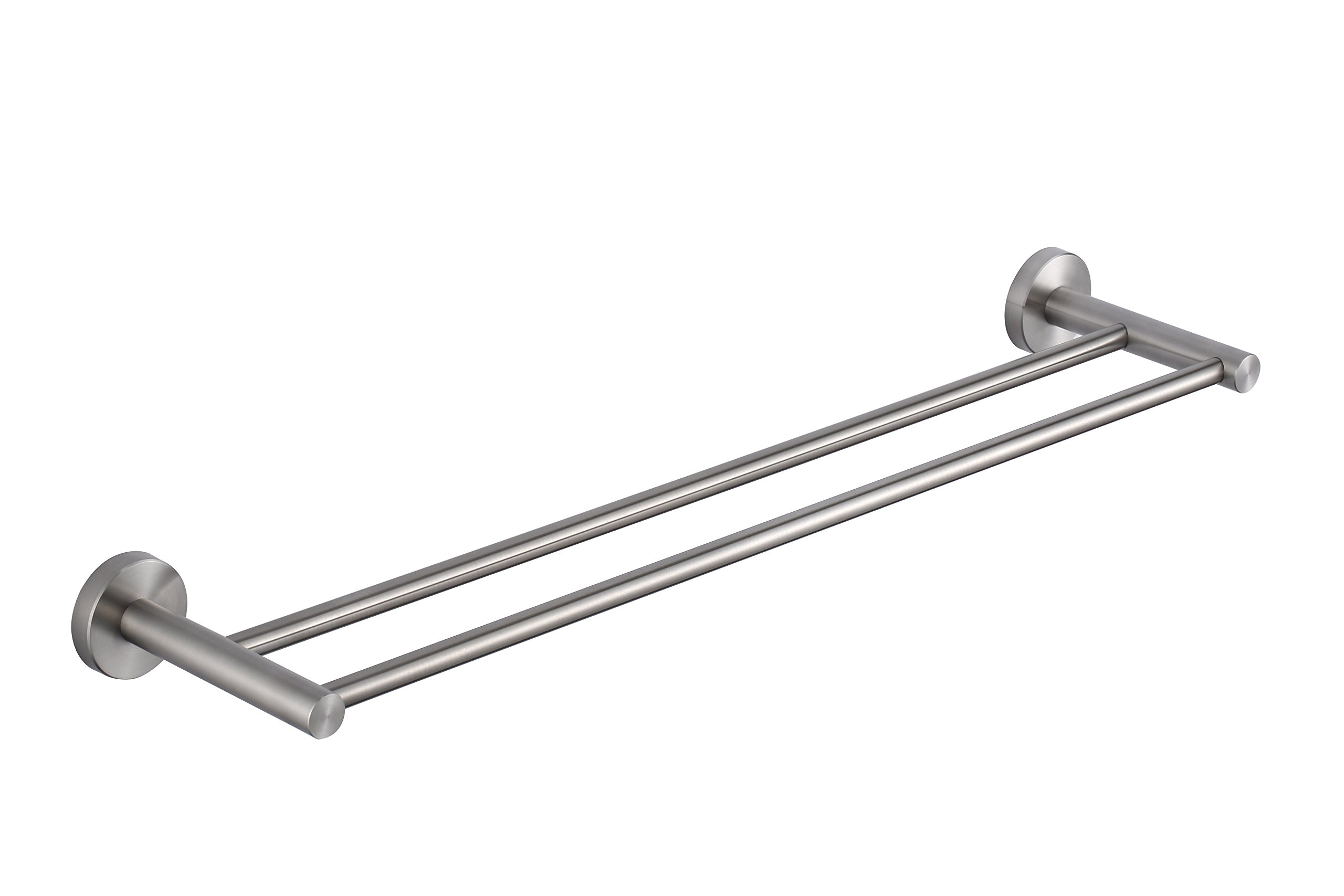 KTY 24-Inch Double Towel Bar Bathroom Shower Organization Bath Dual Towel Hanger Holder Brushed SUS 304 Stainless Steel Finish