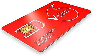 Vodafone v-sim, una Tarjeta sim Inteligente, Funciona para Dispositivos conectados por GPS (trakers GPS, cámaras de Seguridad, trakers para Mascotas.).: Amazon.es: Electrónica