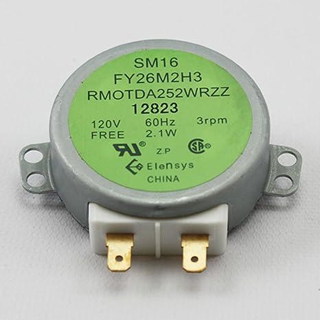 Sharp rmotda252wrzz para plato giratorio del microondas motor ...