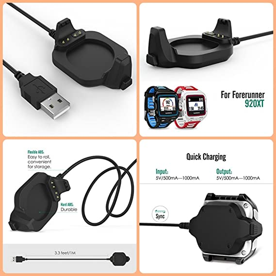 LOKEKE Replacement USB Charger Charging Cables for Garmin Vivosmart 4 Sync Date Cable for Garmin Vivosmart 4 USB Charging Cable