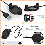 Garmin Forerunner 920XT Charger Dock, BESTeck USB Data Sync Charge Cradle Dock Charger with 1M Charging Cable for Garmin Forerunner 920XT Smart Watch, Black