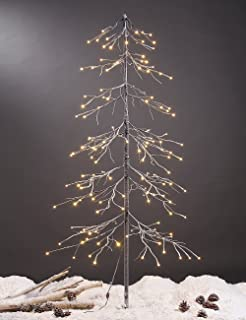 amazon com 6 white lighted christmas cascade twig tree outdoor rh amazon com christmas tree lights